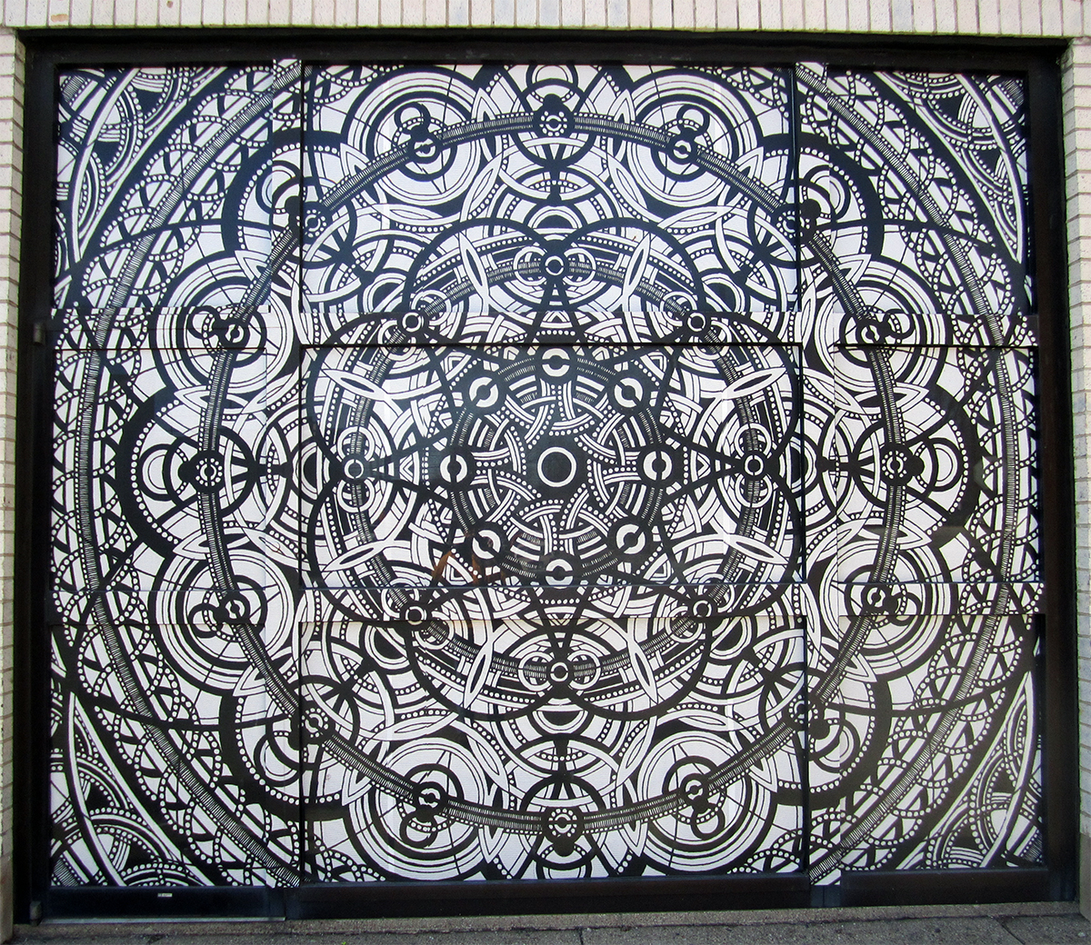 February 11th. Mosaic Near the Library.