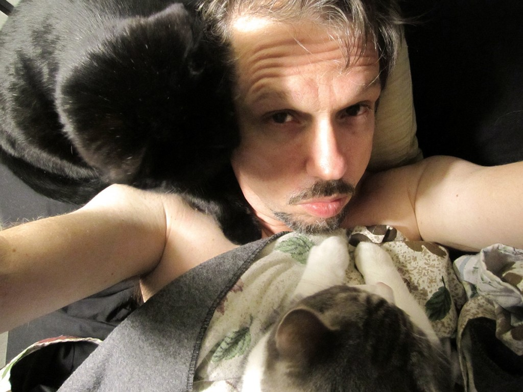 February 28th. Me and my kitties in the morning.