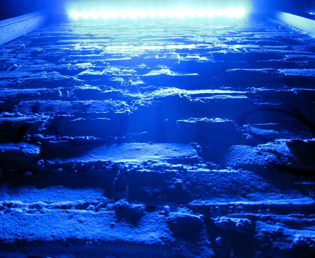 March 23rd: Neon wall at night (Urbana, IL).