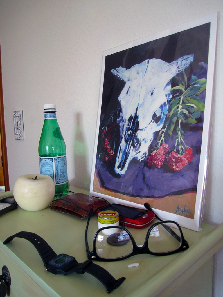 March 30th: Painting and items in my pockets.